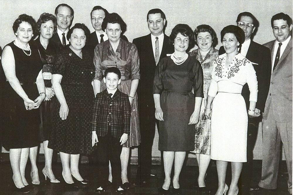 Paull Family, at Rachel Friedman's wedding. 1961