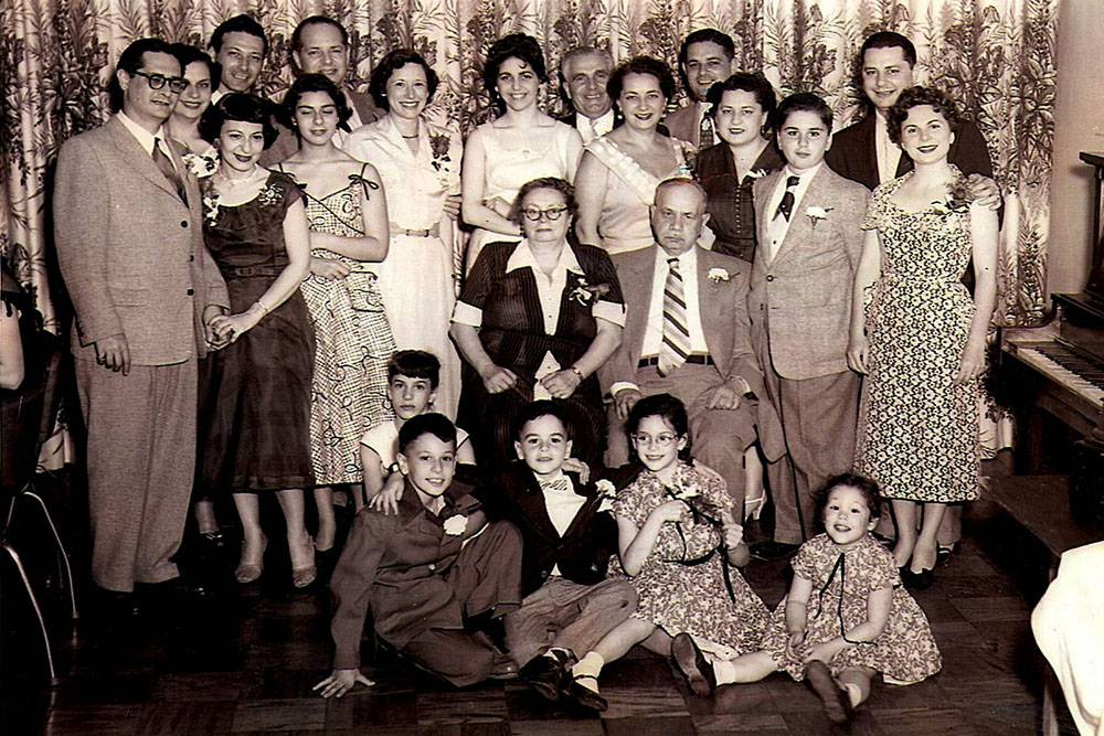 Paull Family at Fred Abrams' Bar Mitzvah, B'nai Israel, Pittsburgh,1954